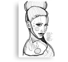 Fashion sketch portrait by MrNobody Canvas Print