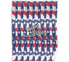 Basket of Deplorables on red, white, blue background Poster