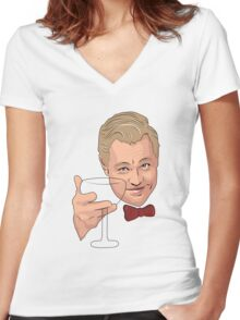 The Great Gatsby Women's Fitted V-Neck T-Shirt