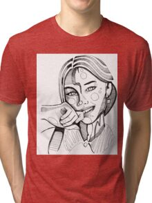 Fashion sketch portrait by MrNobody Tri-blend T-Shirt