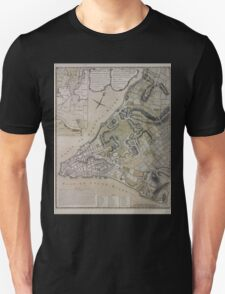 442 Plan of New York City of New York and its environs to Greenwich Town Survey'd in the winter 1775 Unisex T-Shirt