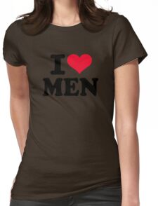 I love men Womens Fitted T-Shirt