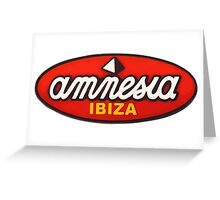 Amnesia Ibiza Original Logos Greeting Card