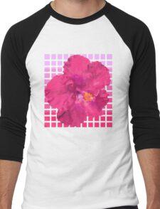 Pixel Hibiscus Men's Baseball ¾ T-Shirt