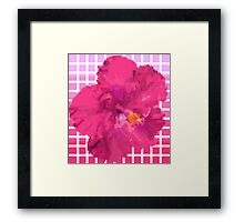 Pixel Hibiscus Framed Print