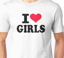 I love girls Unisex T-Shirt
