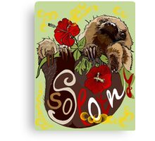 So Slothy Canvas Print