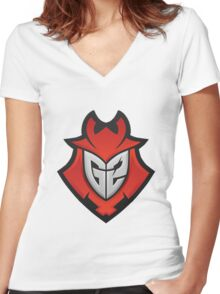 G2 Kinguin Women's Fitted V-Neck T-Shirt