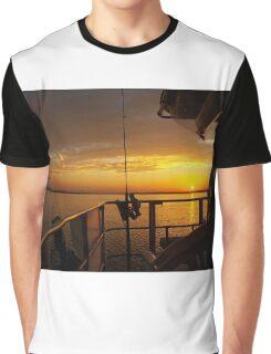 Golden Cruising Sunset. Photo Art, Print, Gift, Graphic T-Shirt