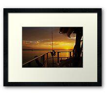 Golden Cruising Sunset. Photo Art, Print, Gift, Framed Print
