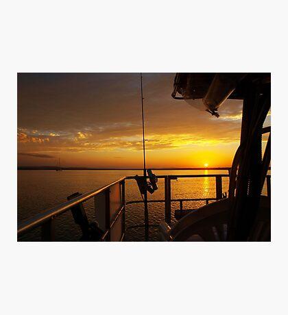 Golden Cruising Sunset. Photo Art, Print, Gift, Photographic Print