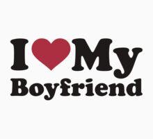I love heart my boyfriend by Designzz