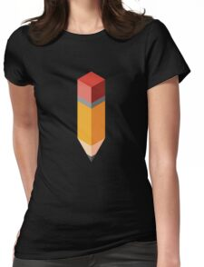 Isometric pencil Womens Fitted T-Shirt