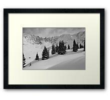 Mayflower Gulch Monochrome Framed Print