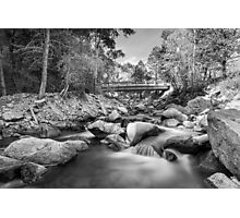 Mountain Creek Bridge in Black and White  Photographic Print