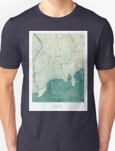 Nice Map Blue Vintage Unisex T-Shirt