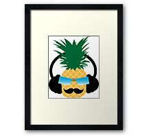 Funny pineapple lover music Framed Print