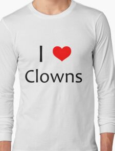 i heart clowns - black text Long Sleeve T-Shirt