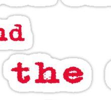 The Doors Roadhouse Blues Lyrics Sticker