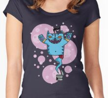 le chat genie Women's Fitted Scoop T-Shirt
