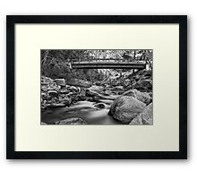 The Crossing in Black and White Framed Print