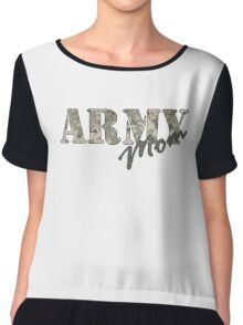 Army Mom Chiffon Top