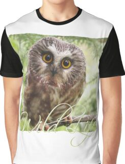 Wild Life - Cute Owl Graphic T-Shirt