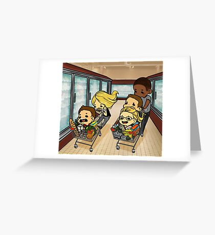 Team Arrow Goes grocery shopping! Greeting Card