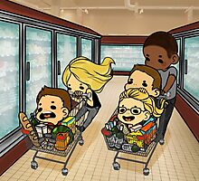 Team Arrow Goes grocery shopping! Photographic Print