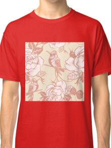 pattern with birds and flowers Classic T-Shirt