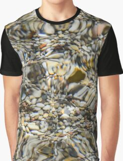 Abstract Stones And Water Graphic T-Shirt