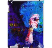 Blue Haired Girl on Windy Day  iPad Case/Skin