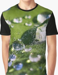 Water Drops Graphic T-Shirt
