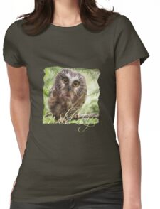 Wild Life - Cute Owl Womens Fitted T-Shirt