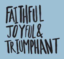 Faithful Joyful and Triumphant x Blue One Piece - Short Sleeve