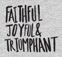 Faithful Joyful and Triumphant x Blue One Piece - Long Sleeve