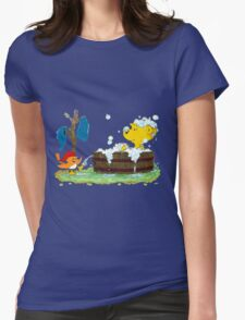 Ferald's Bubble Bath Womens Fitted T-Shirt