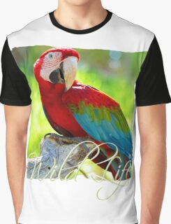 Wild Life Series - The Red Parrot Graphic T-Shirt