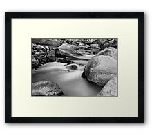 Silky Texture and Tones Framed Print