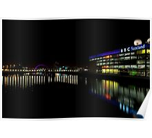 The Colourful Clyde at Night Poster
