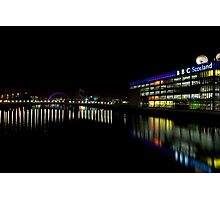 The Colourful Clyde at Night Photographic Print