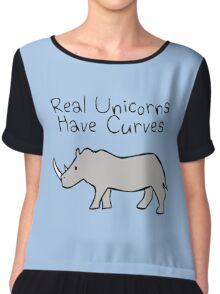 Real Unicorns Have Curves Chiffon Top