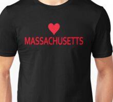 Massachusetts with Heart Love Unisex T-Shirt