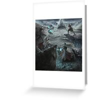 Skoll and Hati avenge Fenrir Greeting Card