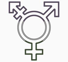 Trans Symbol (nonbinary flag + empty) One Piece - Short Sleeve