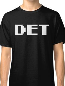 Tecmo Bowl Detroit Lions Football 8-Bit NES Nintendo Pixel Type Shirt T-shirt Classic T-Shirt