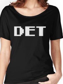 Tecmo Bowl Detroit Lions Football 8-Bit NES Nintendo Pixel Type Shirt T-shirt Women's Relaxed Fit T-Shirt
