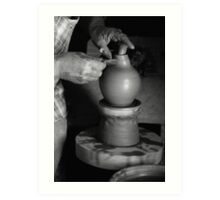 Potter at work Art Print