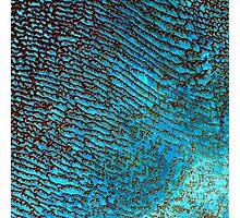 False Color Desert Sand Dunes in Saudi Arabia Satellite Image  Photographic Print