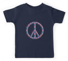 Groovy Psychedelic Diamond Pattern Abstract Kids Tee